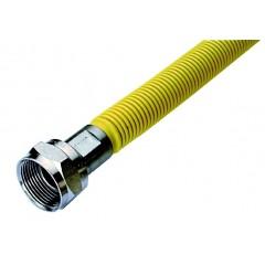 Raminex buigbare gasaansluitslang 60cm m24x1,5 wartelmoer rvs 73010