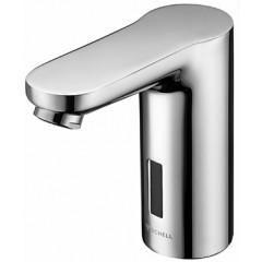 Schell Celis E 1-gats wastafelkraan voor koud of voorgemengd water met infrarood sensor elektronisch 9V chroom 012300699
