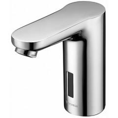 Schell Celis E 1-gats wastafelkraan voor koud of voorgemengd water met infrarood sensor elektronisch 230V chroom 012310699