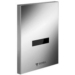 Schell Edition E urinoirsturing 230V kunststof frontplaat met infrarood sensor chroom 028080699
