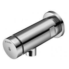 Schell Petit SC wanduitloopkraan voor koud of voorgemengd water zelfsluitend met handbediening chroom 021360699