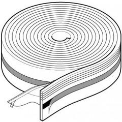 Uponor randisolatie met folierand en zelfklevende tape 10x150mm rol=50 meter, prijs= per meter blauw 1000080