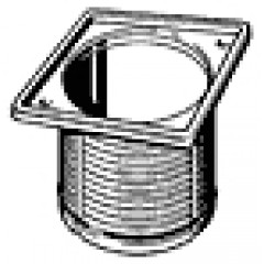 Viega Advantix opzetstuk 100x100 rvs 488987