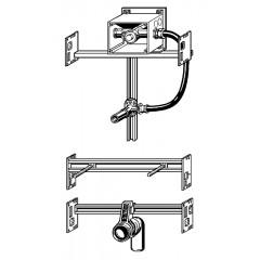 Viega Swift urinoir module voor inbouwspoelsysteem 43x11.5cm met frontbediening 656058