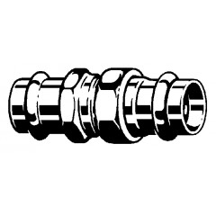 Viega Sanpress 3-delige koppeling SC 22mm brons 126124