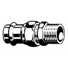 Viega Sanpress 3-delige koppeling SC buitendraad 22x3/4