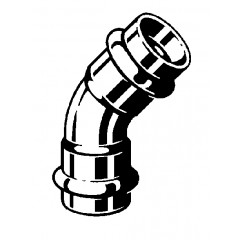 Viega Profipress-G bocht SC 45° 12mm koper 346898