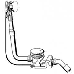 Viega Rotaplex rotaplex trio RT5 badafvoer-overloop-en vulcombinatie 40/50x72.5cm afvoer 90mm standaard 679194