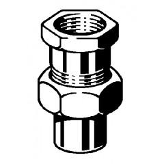 Viega Soldeerfitting 3 delige koppeling 15x1/2