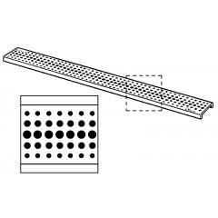Viega rooster voor dchgoot RVS ER2 mat gaatjes 80cm