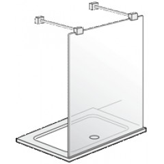 Villeroy & Boch Futurion walk-in aluminium 150x195cm DW0150FUT182V00