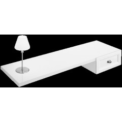 Villeroy & Boch La Belle make-up tafel 130x21x54cm lade rechts lamp links wit/chroom A5881RDJ