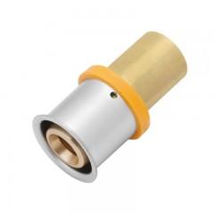 Vsh Multipress koppeling 25x22mm messing 3823567