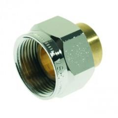Vsh  2-delige kopp.m24 bi.x 15mm.mess.cap. voor gaskr. chroom 601216