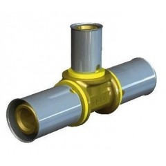 Wavin Tigris gas verloop t-stuk 25x16x16mm 4372125163