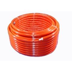 Wavin Tigris PEX/AL buis met 9mm isolatie 16mm lengte 50m rood 4361416050