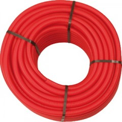 Wavin Tigris PEX/AL buis met mantelbuis 25x2,5 lengte 50m rood 4361225050