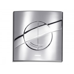 Wisa Argos bedieningsplaat vierkant kunststof 16x16cm dualflush DF glans chroom 8050414651