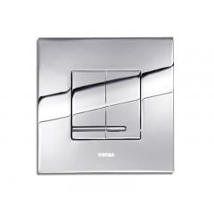 Wisa Delos bedieningsplaat vierkant metaal 16x16cm dualflush DF glans chroom 8050414051