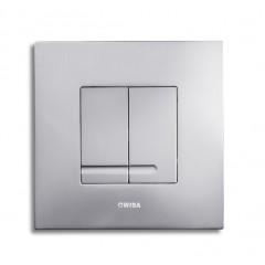 Wisa Delos bedieningsplaat vierkant metaal 16x16cm dualflush DF matchroom 8050414031