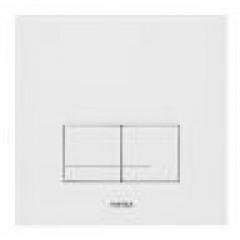 Wisa Delos bedieningsplaat glas mechanisch 16x16cm met dualflush voor XS WC-element wit 8050420201