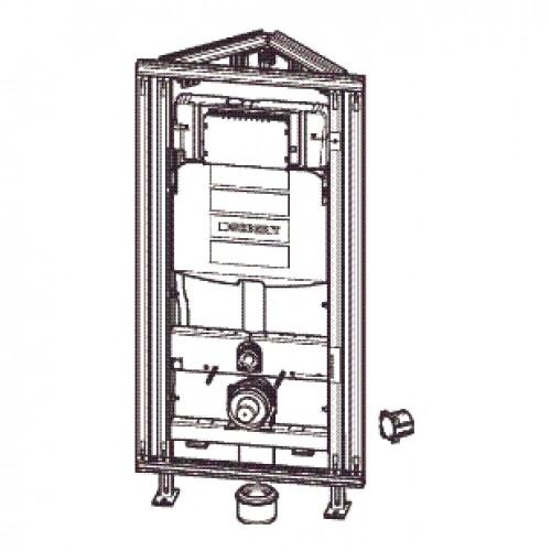 geberit gis easy wc element h120 voor hoekmontage met reservoir up320 120x60cm met. Black Bedroom Furniture Sets. Home Design Ideas