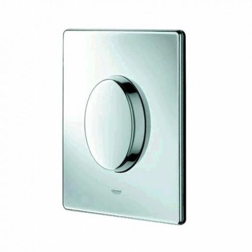 grohe skate air wc bedieningsplaat enkele spoeling verticaal chroom 38564000. Black Bedroom Furniture Sets. Home Design Ideas