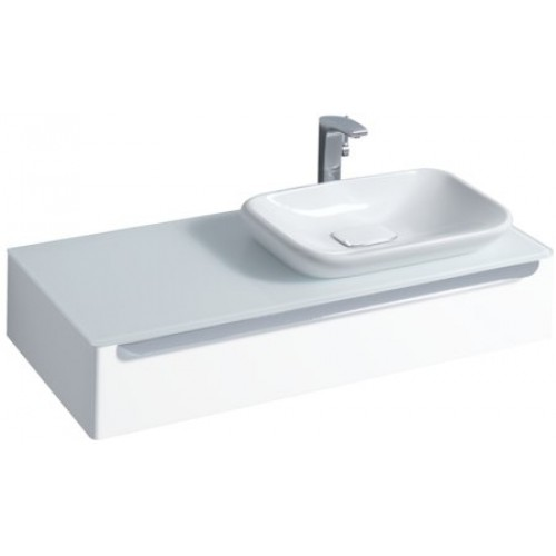 keramag myday wastafel onderbouwkast 115x20x52cm voor inbouwwastafel sifonuitsparing rechts wit. Black Bedroom Furniture Sets. Home Design Ideas