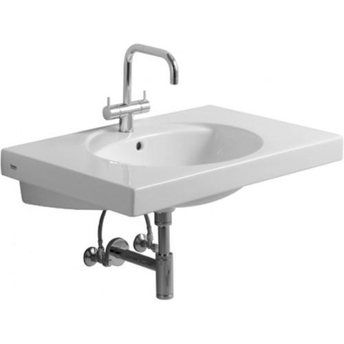 Keramag preciosa wastafel 80x55 keratect wit 124280600 - Wastafel rechthoekig badkamer ...