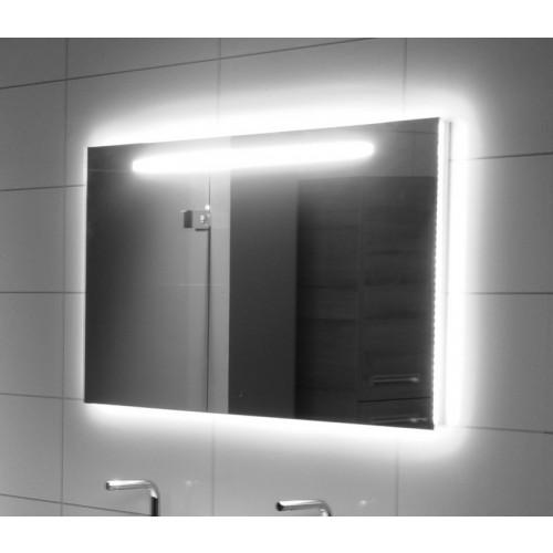 Looox x line spiegel rechthoekig met verlichting 100x70cm met verwarming spx1000700b - Wastafel rechthoekig badkamer ...