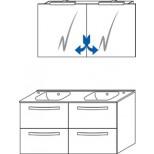 Sanijura Impact badkamermeubel 120 cm antraciet hoogglans 4970092105