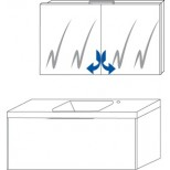Sanijura XS badkamermeubel 100 cm antraciet hoogglans 6570162105