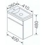 Burgbad Chiaro meubelset 41cm links z. spiegel wit/glanswit F0702SEIR041LC1