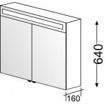 Burgbad Evo 2 spiegelkast met TL verlichting 70x64cm wit mat 5280ATF7008