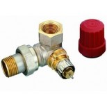 "Danfoss thermostatische radiatorafsluiter dubbel haaks LI 1/2"" Kvs = 0,90 m3/h RA-N15 013G0234"