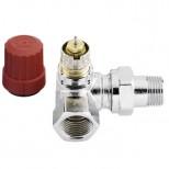 "Danfoss RA-NC thermostatische radiatorafsluiter 1/2"" bi-bu dubbel haaks links chroom 013G4240"
