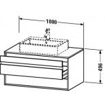 Duravit Ketho wastafelonderbouw met 2 laden 100x42.6x55cm voor 1 opbouw wastafel basalt KT665504343