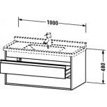 Duravit Ketho wastafelonderbouw met 2 laden 100x41x46.5cm voor Starck3 030410 basalt KT664504343