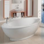 Duscholux Portofino 340 kunststof bad acryl ovaal vrijstaand 210x105cm z. paneel wit 610340000001