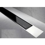 Easy Drain Modulo TAF designrooster Z2 gepolijst 100cm glas zwart MTAFDZ2PGS1000