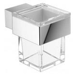 Emco Vara glashouder wandmodel met kristalglas helder chroom 422000100
