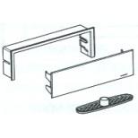 Geberit afbouwdeel voor douche-element met afdekplaat geborsteld RVS 154330FW1