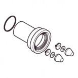 Geberit aansluitgarnituur PE met afdichtrubber 185mm afvoer 90mm toevoer 45mm 152487461