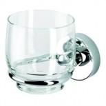 Geesa Luna glashouder met glas chroom 5502