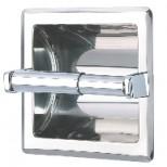 Geesa Serie 100 inbouw closetrolhouder rvs look 120