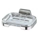 Geesa Standard zeephouder met glazen inzet helder chroom 7155