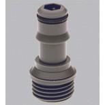 Grohe Relexa koppelstuk naar nieuwe handdouche en slang uitgerust met Grohclick grijs 28635XX0