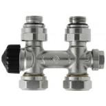"""Heimeier Multilux 2-pijps 1/2""""-50mm recht voor radiator bi.dr. 385002000"""