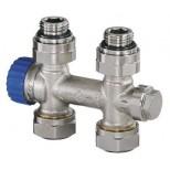 """Heimeier Multilux 1-pijps recht 1/2""""-50mm voor radiator bi.dr. 385402000"""