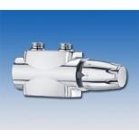 """Heimeier Multilux Multilux 4 2-pijps haaks en recht 1/2""""- 3/4"""" 50mm met DX regelaar chroom 969028000"""